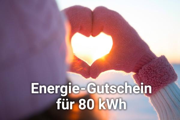 Energie-Gutschein über 80 kWh
